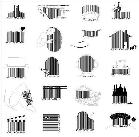 interesting barcodes by Japanese designer