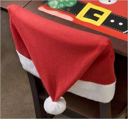 Santa Claus Hat Chair Cover for Your Christmas Decoration