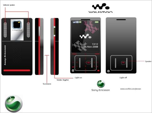 Sony Ericsson Concept Touchscreen Walkman Cell Phone