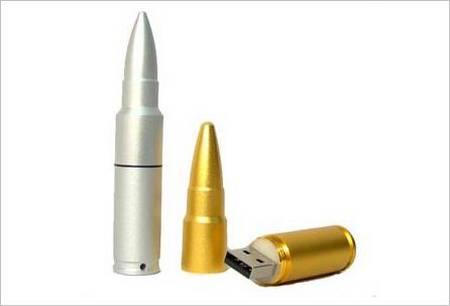 Bullet-shaped Flash Drive