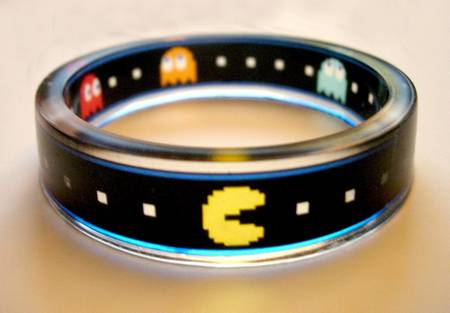 Clearly Pac-man Bracelet for Those Pac-man Fans