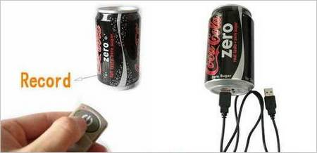 The Coke Zero Wireless Remote Spy Camera