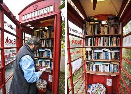 Phone Booth Library in UK