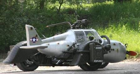 Cool Sidecar Inspired WW2 German Fighter Plane