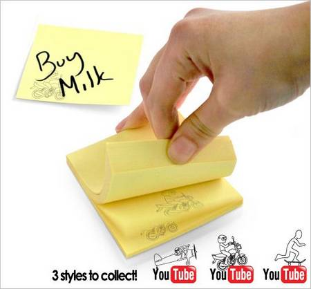 Sticky Note Pad with Flip Animation