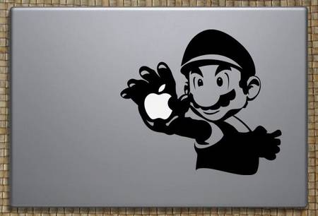 Super Mario Macbook Decal