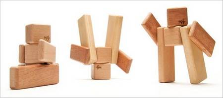 Tegu, A Set of Wooden Building Blocks with Magnets