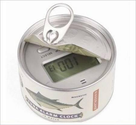 Funny Tuna Can Alarm Clock
