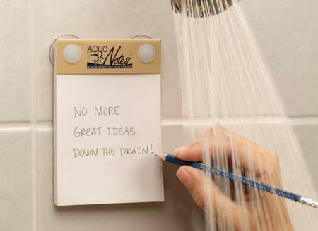Note Your Inspiration with Aqua Notes When Showering