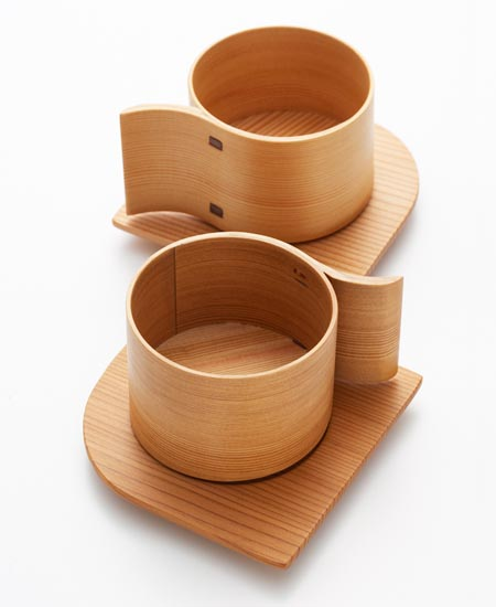 Alpha an unique wooden teacup set from Japan