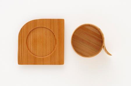 Alpha an unique wooden teacup set from Japan