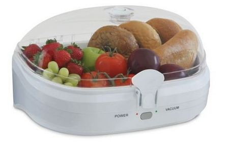 Put Your Food in Vacuum Storage Chamber