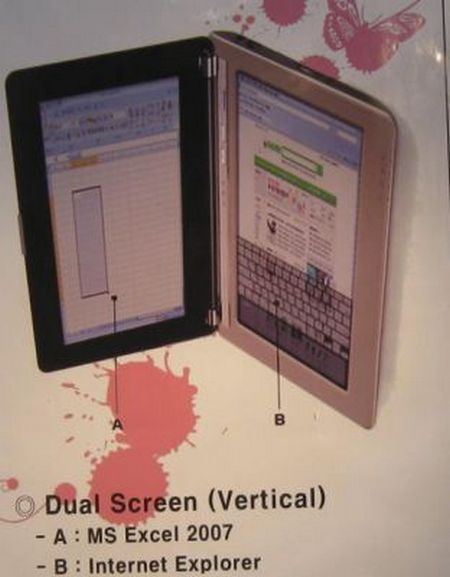 Dual-screen Netbook by Krean dnb