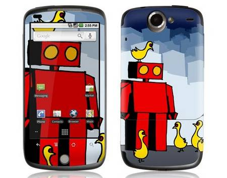 GelaSkins released Google Nexus One skins