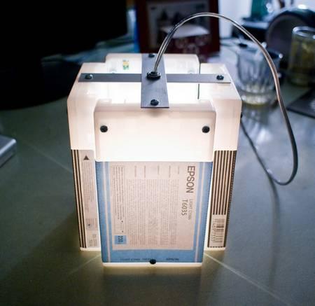 Ink cartridge hanging lamps