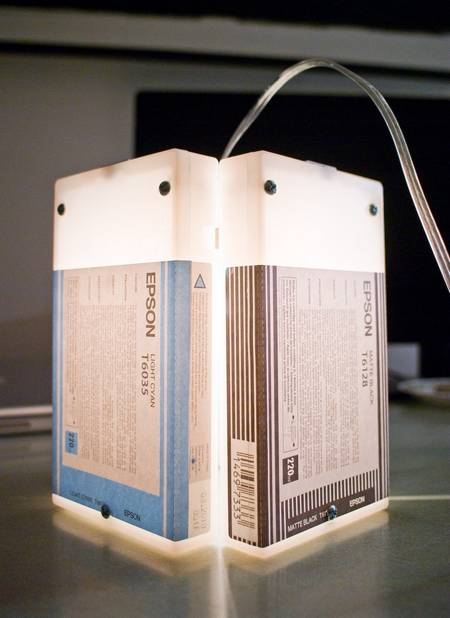 Ink cartridge hanging lamps