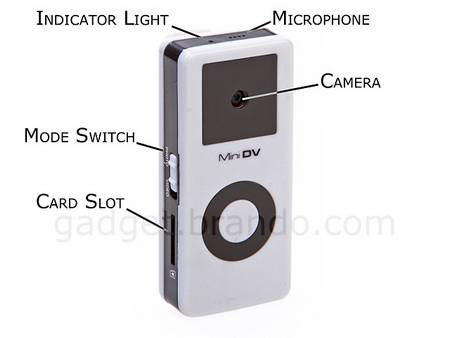 iPod-shaped mini spy camera
