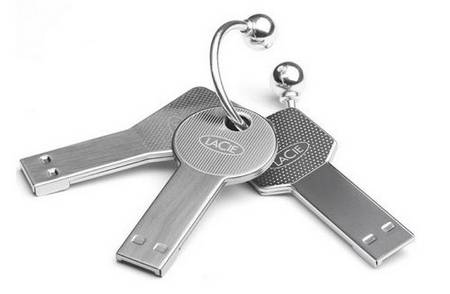 Key-shaped USB flash drive