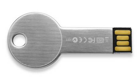 LaCie key-shaped USB flash drive