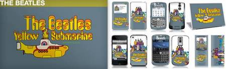 Beatles skins by MusicSkins for cell phones or laptops