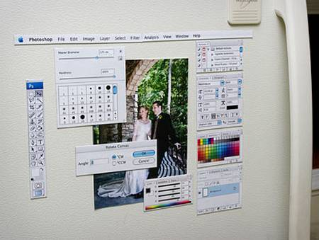 Photoshop Fridge Magnets for Fanatic Designers