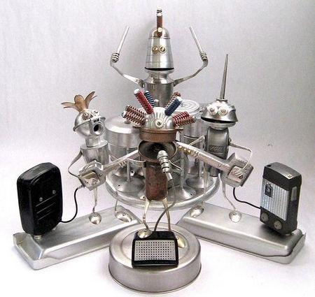 Incredible Silver Robot Band