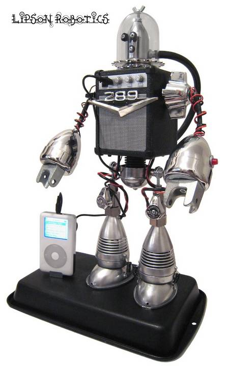 Speaker Bot Cool Robot Playing MP3 Player