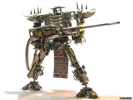 Ultra Cool Handmade Metal Robots All Like Transformers
