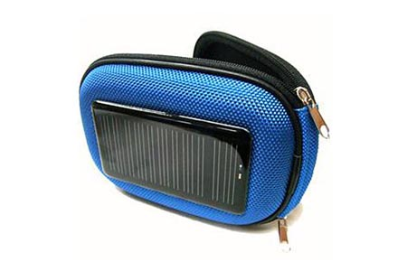 Solar power charger case