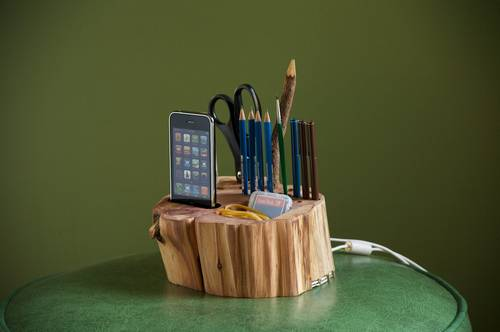 All-in-One Desk Organizer Also iPhone Charger and USB Hub