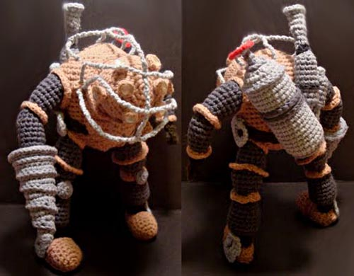 Bioshock 2 Big Daddy Bouncer Amigurumi by Nerdigurumi