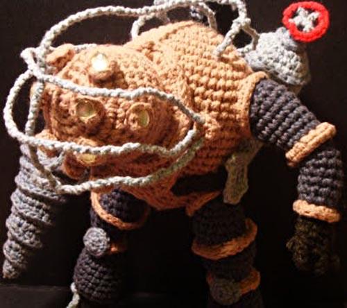 Bioshock 2 Big Daddy Bouncer Amigurumi by Nerdigurumi