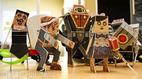 Make Bioshock 2 paper foldable dolls