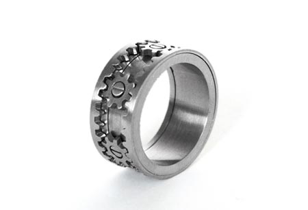 Gear Ring, a industrial treasure by KinektDesign