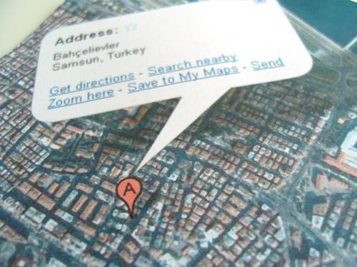 Google Map envelope