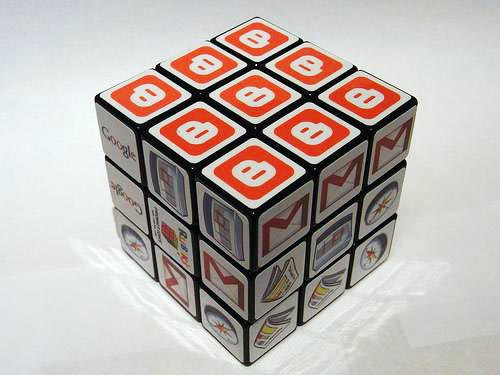 Google Rubiks Cube constructed by its most famous services
