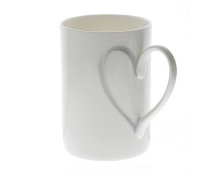 Heart Mug for your girlfriend in Valentines Day