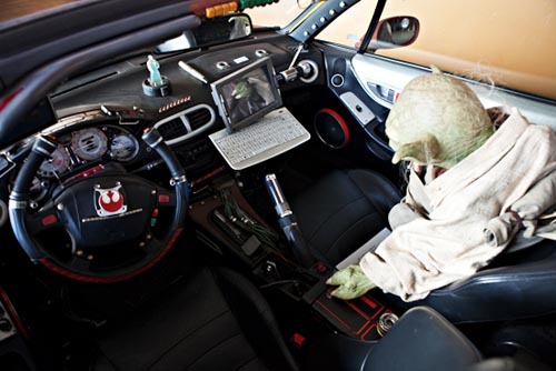 Jedi Master Yoda's car at Anime LA