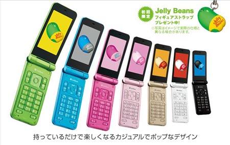 SoftBank Jelly Beans cell phone