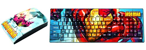 Keyscaper Marvel and Star Trek keyboard and wireless mouse