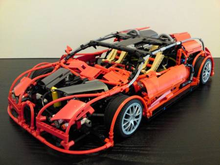 Lego Bricks Version Bugatti Veyron Gadgetsin