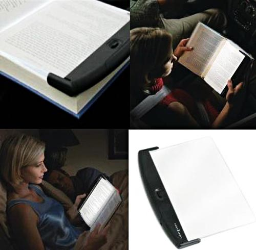 LightWedge light pad for reading lovers