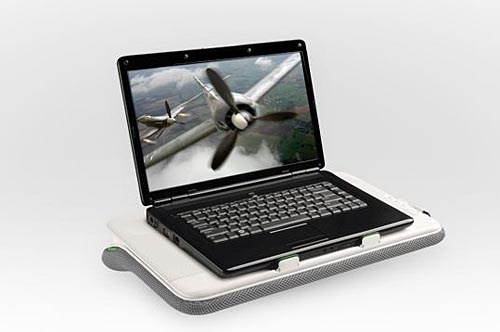 Logitech Speaker Lapdesk N700 not only a laptop cooler