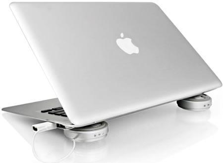 Swarovski crystals Luxa2 M4 laptop cooler
