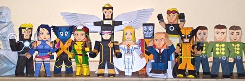 Paper Figures of Marvel Superheroes