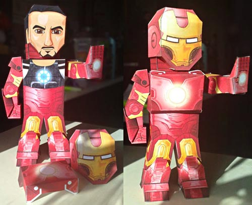 Paper Figures of Marvel Superheroes