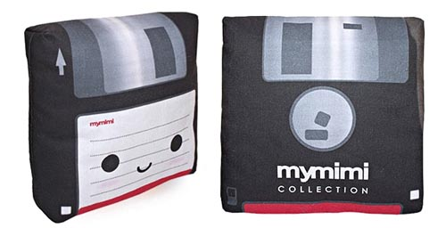 mini floppy disc pillow