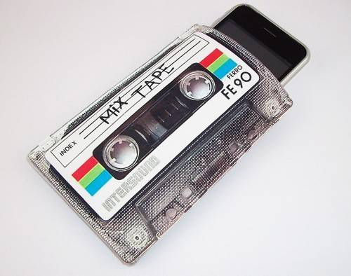 80�s retro mix cassette tape gadget case not only for