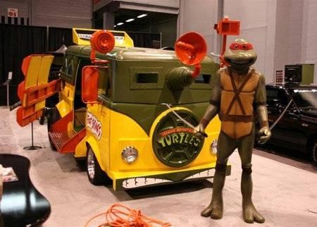 Teenage Mutant Ninja Turtles Van arrived