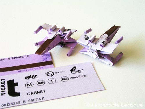 subway tickets Origami Star Wars Artifacts